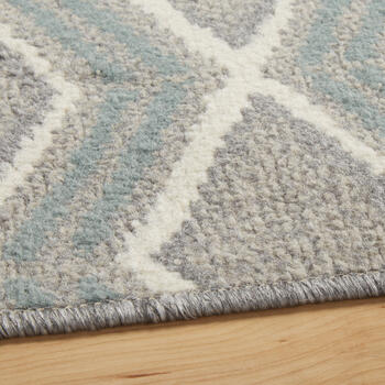 6.6'x9.5' Gray/Blue Zigzags Area Rug view 2