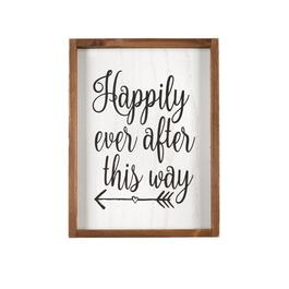 "12""x16"" ""Happily Ever After"" Wood Wall Decor"