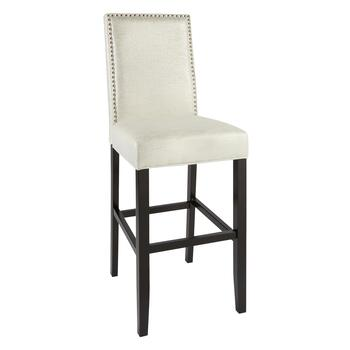 Stewart White Nailhead Stool