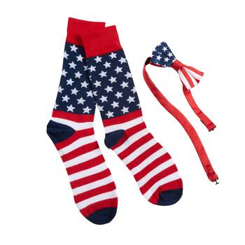 Stars and Stripes Socks and Bowtie Set
