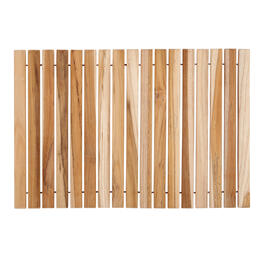 Teak Wood Indoor/Outdoor Roll-Up Mat view 1