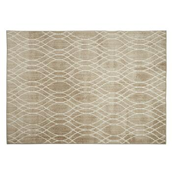 5'x7' Beige/Cream Wave Area Rug