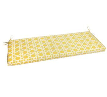 Yellow Cane Indoor/Outdoor Bench Seat Pad