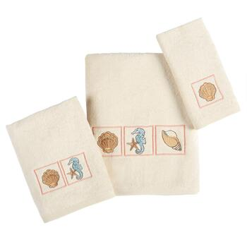 Cayman Coastal Cotton Seashell Towels Collection