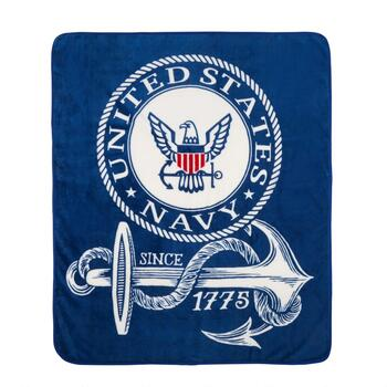 "50""x60"" US Navy Military Throw Blanket"