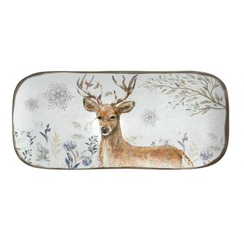 "15"" Winter Woodland Deer Melamine Tray view 2"