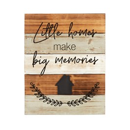 "16""x20"" ""Little Homes"" Cutout Wood Wall Decor view 1"