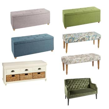 Storage Benches, Tufted Ottomans & Tufted Settees
