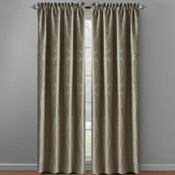 Light Green Katerina Patterned Window Curtains, Set of 2 view 2