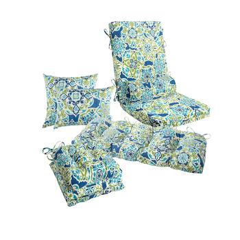 Blue Floral Medallion Indoor/Outdoor Pads Collection