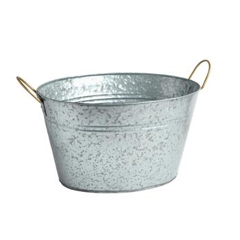 "17"" Oval Metal Party Tub"
