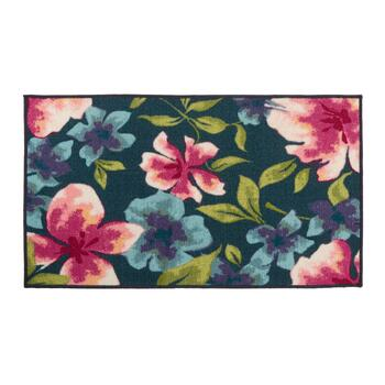 "27"" x 45"" Bright Floral Print Accent Rug"