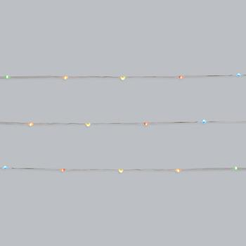 10' Multicolored Battery-Powered LED String Lights