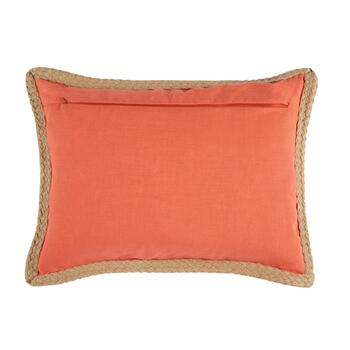 """Relax"" Coral Oblong Throw Pillow view 2"