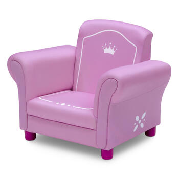 Crown Pink Upholstered Children's Chair view 2