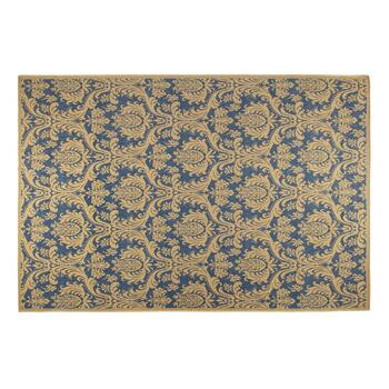 "6'5""x9'5"" Damask Woven Indoor/Outdoor Area Rug"