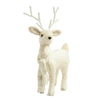 15 Standing White Reindeer Decor
