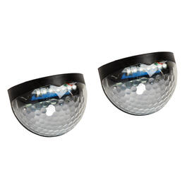 Black Solar Wall/Step Lights, 2-Pack view 1