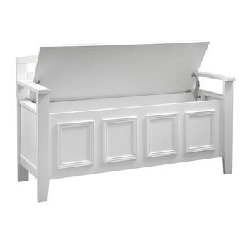 White Loredo Storage Bench view 2