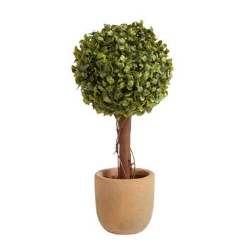 "The Grainhouse™ 14.5"" Artificial Potted Boxwood Topiary Tree"