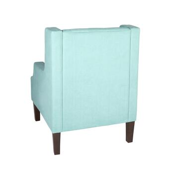 Tufted Upholstered Wing Chair view 2