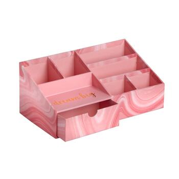 "11.5"" ""Dream Big"" Pink 6-Section Desk Organizer"
