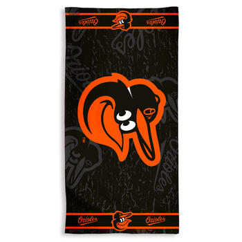 "30""x60"" MLB Baltimore Orioles™ Cotton Beach Towel view 1"