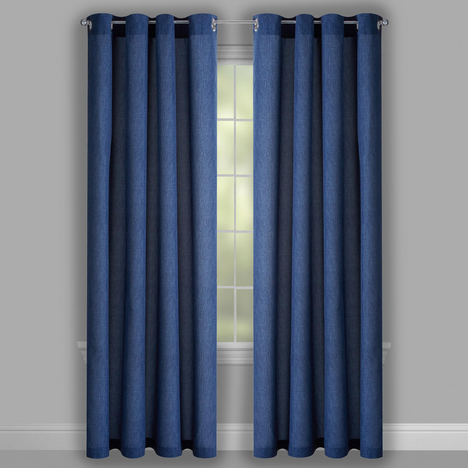 coastal window treatments coastal decor coastal living seascapestrade solid blue grommet indooroutdoor window curtains seascapes