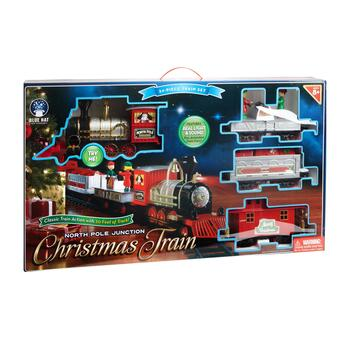 North Pole Junction Christmas Train Set, 34-Piece