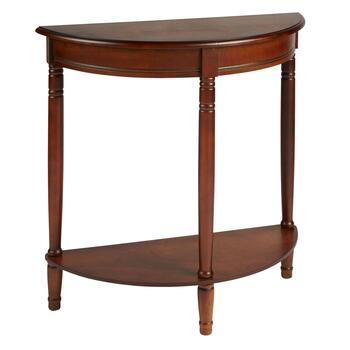 Half-Round Console Table with Shelf