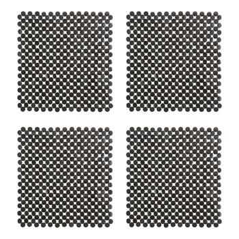 "14"" Square Pebbled Placemats, Set of 4"