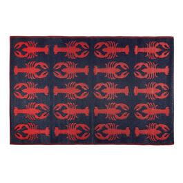 Patio Mat Lobsters 4x6 A view 1