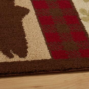 Lodge Animals Striped Area Rug view 2