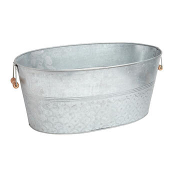 Scale-Embossed Galvanized Metal Party Tub view 1