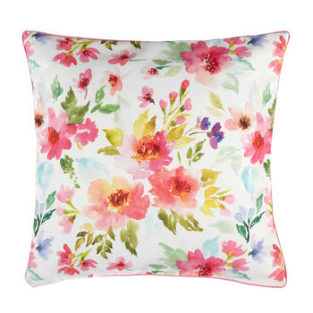 Spring Dog Feather-Fill Square Throw Pillow view 2