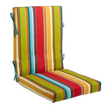 Fiesta Stripe Indoor/Outdoor Hinged Chair Pad