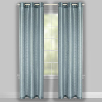 "84"" Embossed Diamond Grommet Window Curtains, Set of 2 view 2"