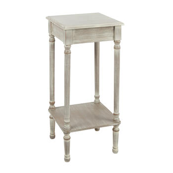 Antique White Square Accent Table view 1