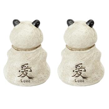 "6.5"" Buddha Pandas with Inscription, Set of 2 view 2"