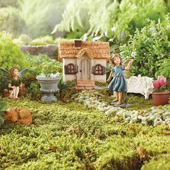 Once Upon A Garden™ Miniature Fairy Garden Set, 7-Piece