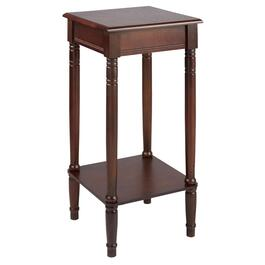 Dark Brown Square Accent Table
