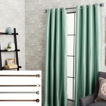 Grommet Top Blackout Window Curtains and Hardware