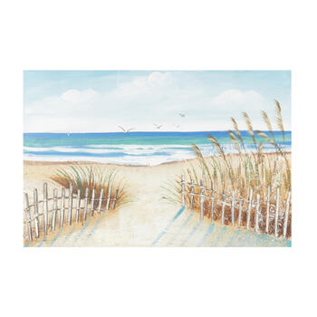 "24""x36"" Shore Path Canvas Wall Art view 1"