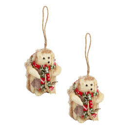 Winter Gear Hedgehog Ornaments, Set of 2 view 1