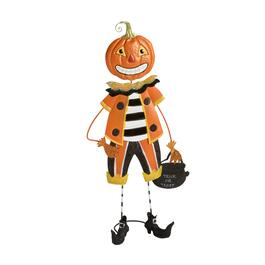 "28"" Standing Metal Jack-O-Lantern Man Decor"