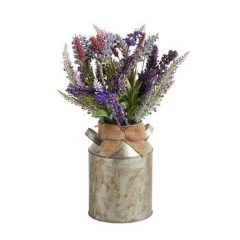The Grainhouse™ Purple Artificial Plant in Metal Pot
