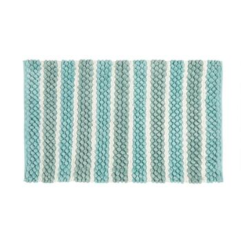 "Mohawk Home 20""x32"" Blue/Green Striped Bath Mat"