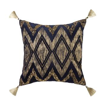 "Fall Chevron Mtlc 22"" Bl"