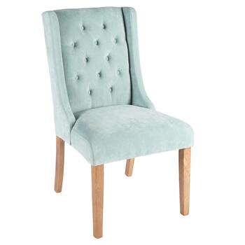 Tufted Upholstery Sleigh Parson's Chair