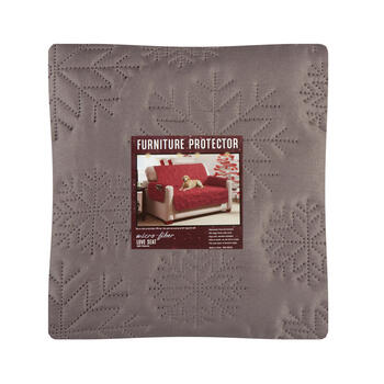 Snowflake Microfiber Loveseat Furniture Protector view 1